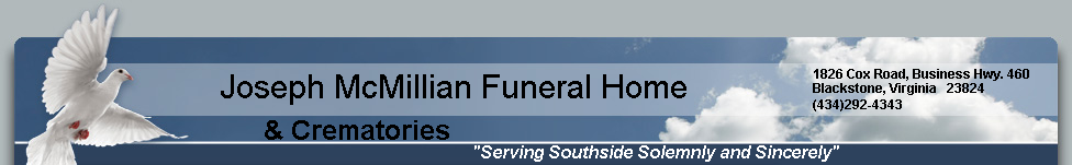 Joseph McMillian Funeral Home & Crematories